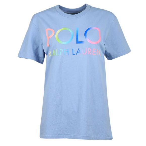 Polo Ralph Lauren Womens Blue Big Polo Logo T Shirt