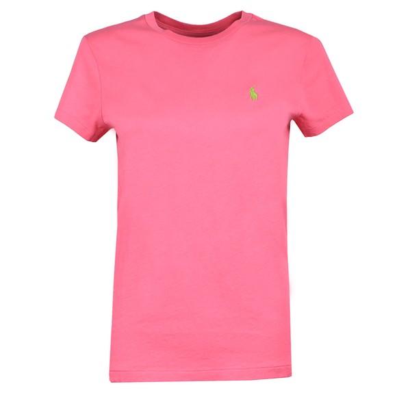 Polo Ralph Lauren Womens Pink Basic Crew T Shirt