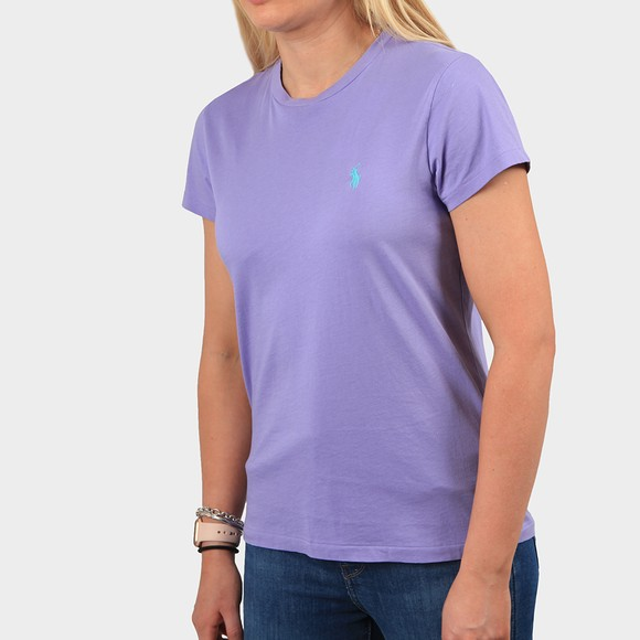 Polo Ralph Lauren Womens Purple Basic Crew T Shirt