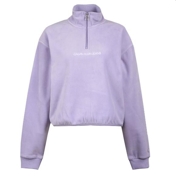 Calvin Klein Jeans Womens Purple Half Zip Polar Fleece