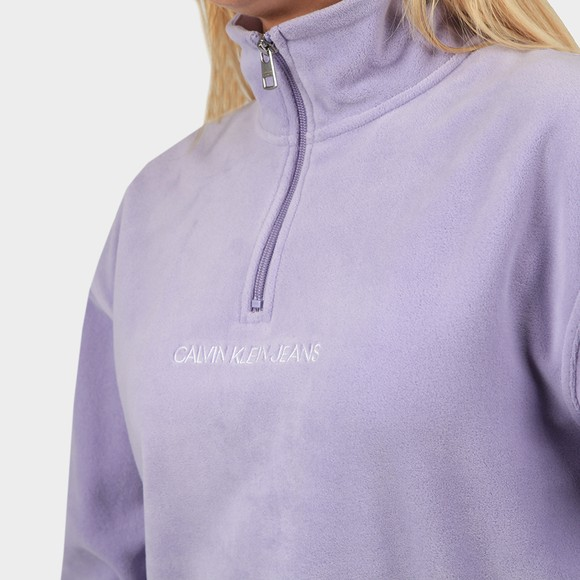 Calvin Klein Jeans Womens Purple Half Zip Polar Fleece main image