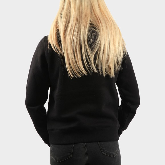 Calvin Klein Jeans Womens Black Reflective Monogram Overhead Hoody main image