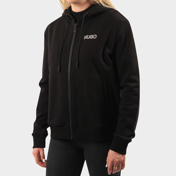 HUGO Womens Black Dakoto Zip Hoody