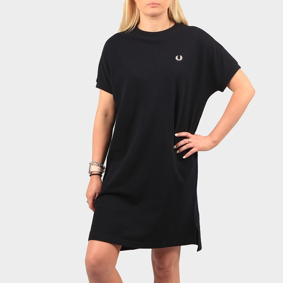 Fred Perry Womens Blue Boxy Pique T Shirt Dress