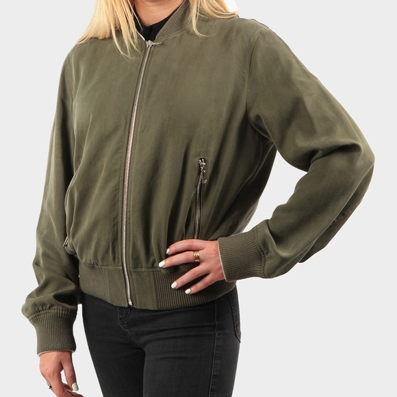 HUGO Womens Green Agesa Bomber