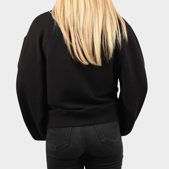 Ugg Womens Black Fuzzy Logo Brook Crew Sweatshirt main image