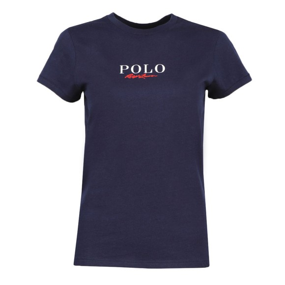 Polo Ralph Lauren Womens Blue Mini Embroidered T-Shirt