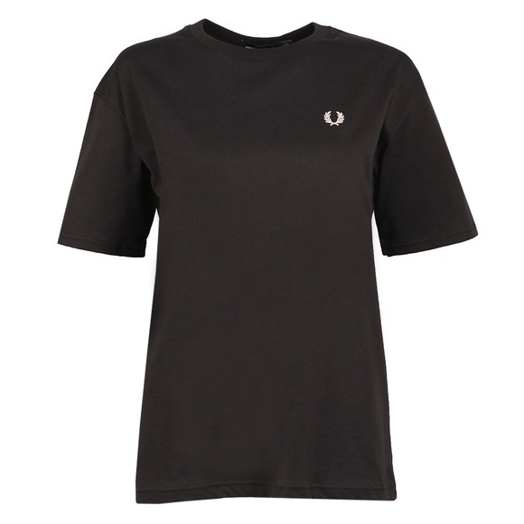 Fred Perry Womens Black Crew Neck T Shirt