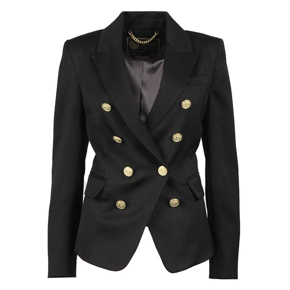 Holland Cooper Womens Black Light Knightsbridge Blazer