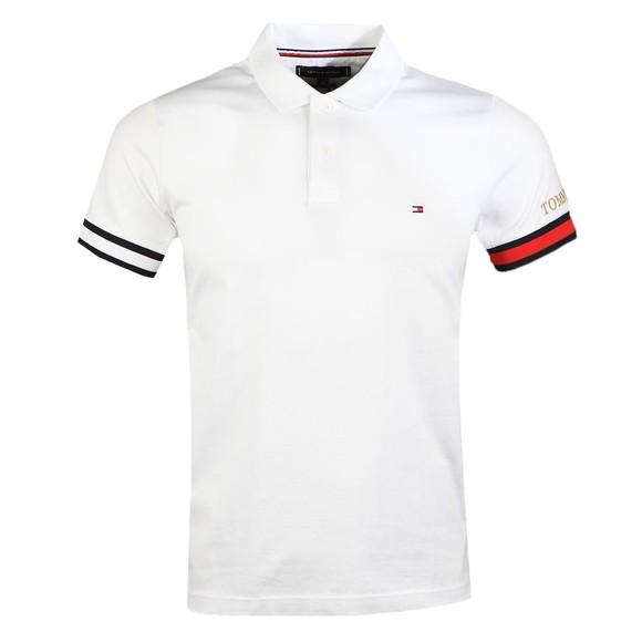 Tommy Hilfiger Mens White Flag Cuff Slim Polo Shirt
