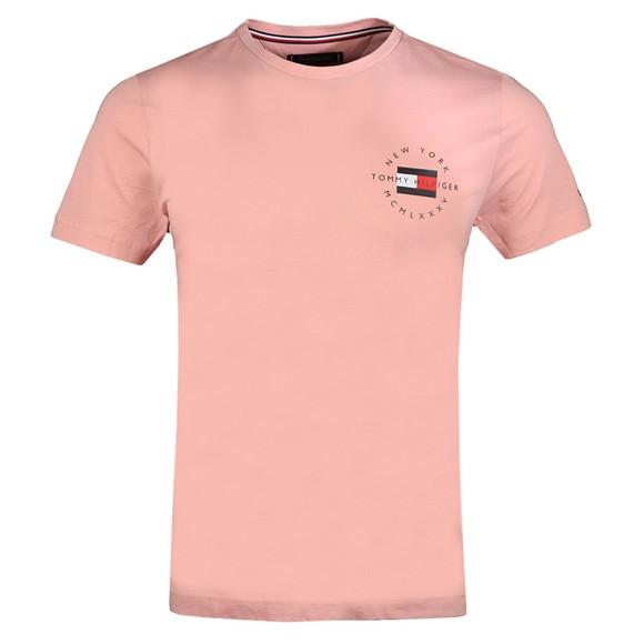Tommy Hilfiger Mens Pink Circle Chest Corp T-Shirt main image