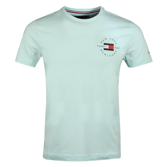 Tommy Hilfiger Mens Green Circle Chest Corp T-Shirt
