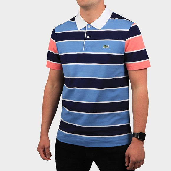 Lacoste Mens Blue YH9861 Stripe Polo Shirt