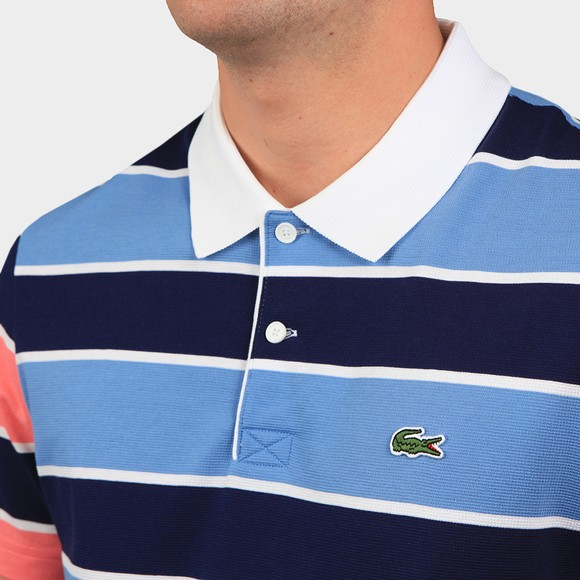Lacoste Mens Blue YH9861 Stripe Polo Shirt main image