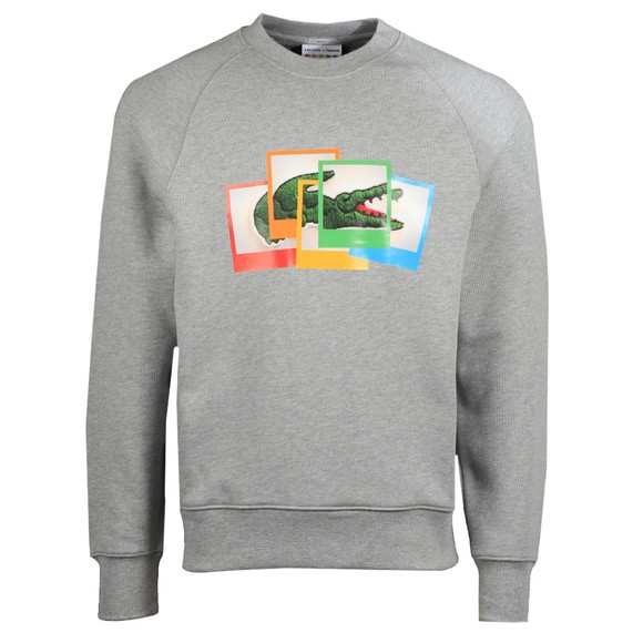 Lacoste x Polaroid Mens Grey SH2183 Photo Sweatshirt