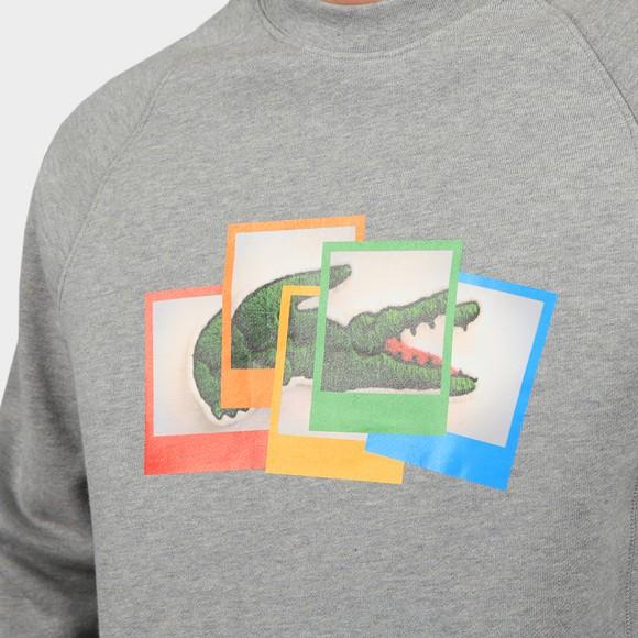 Lacoste x Polaroid Mens Grey SH2183 Photo Sweatshirt main image