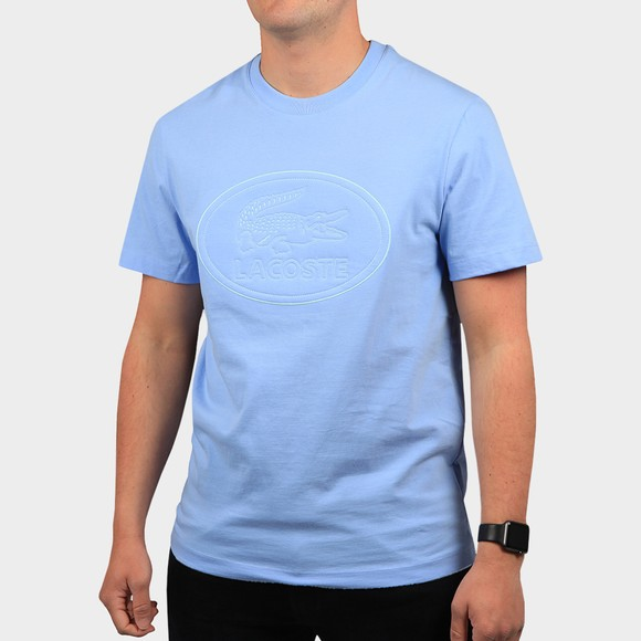 Lacoste Mens Blue TH0453 Oval Logo T Shirt