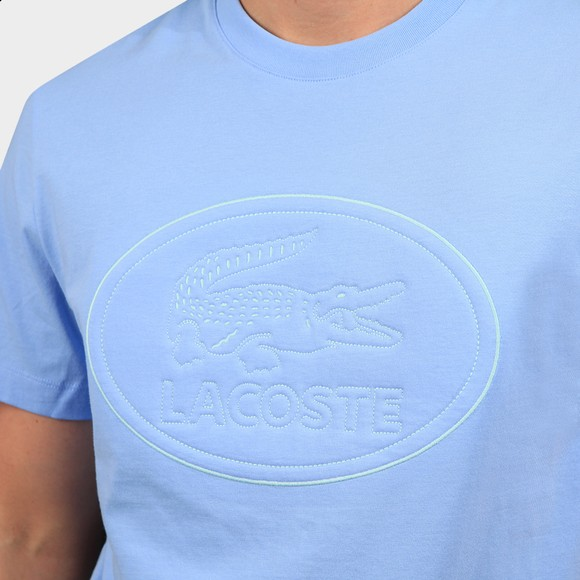 Lacoste Mens Blue TH0453 Oval Logo T Shirt main image
