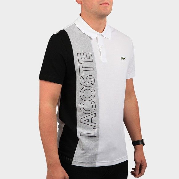 Lacoste Mens White YH9852 Letter Polo Shirt