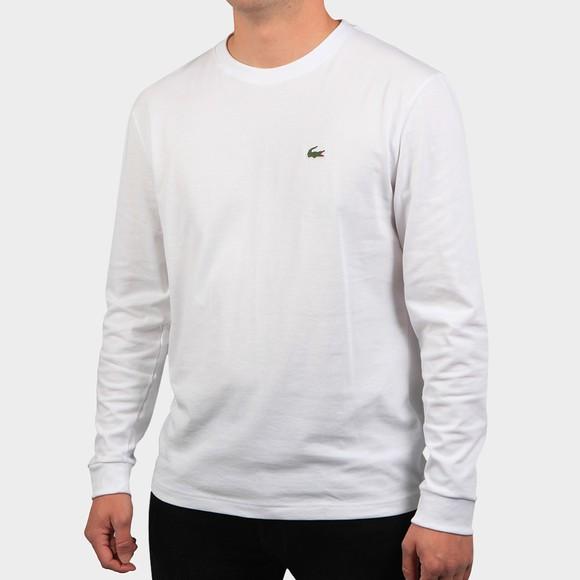 Lacoste Sport Mens White L/S T-Shirt