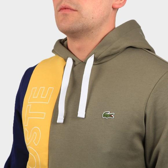 Lacoste Mens Green SH0178 Logo Colourblock Hoody main image
