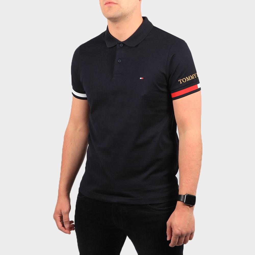 Flag Cuff Slim Polo Shirt main image