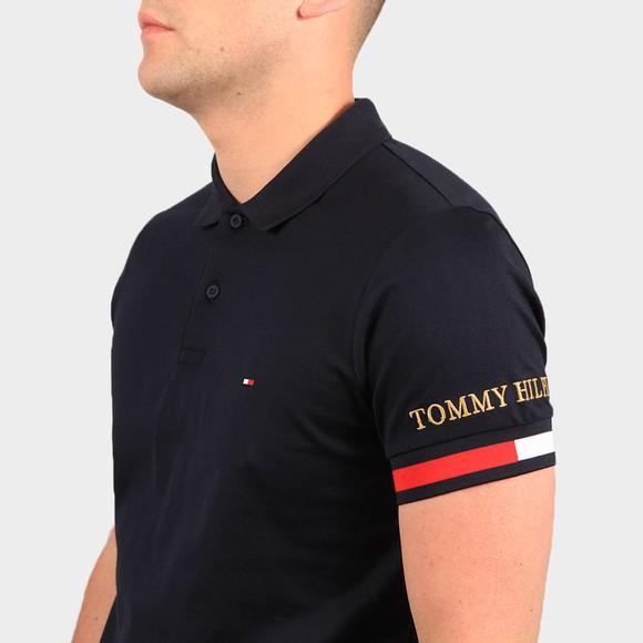 Tommy Hilfiger Mens Blue Flag Cuff Slim Polo Shirt main image
