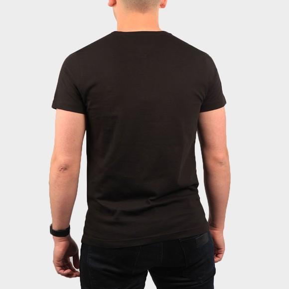 Tommy Hilfiger Mens Black Global Stripe Chest T-Shirt main image