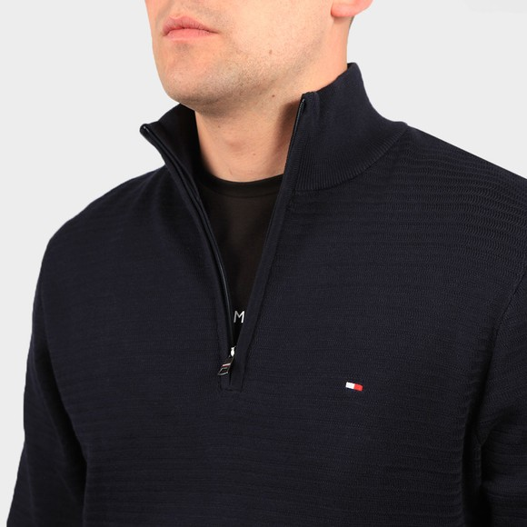 Tommy Hilfiger Mens Blue Zig Zag 1/2 Zip Jumper main image