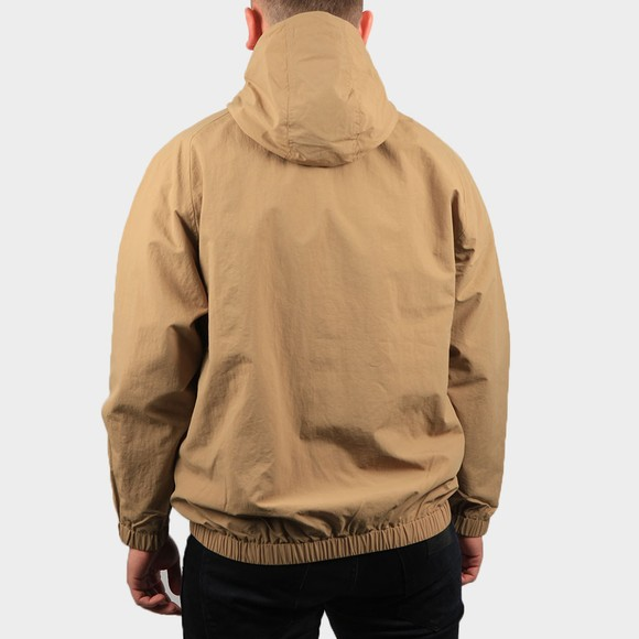 Fred Perry Mens Beige Embroidered Half Zip Jacket main image