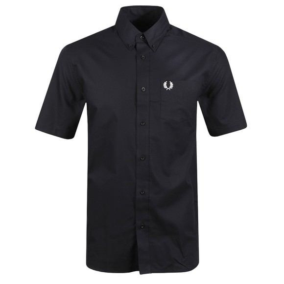 Fred Perry Mens Blue SS Oxford Shirt