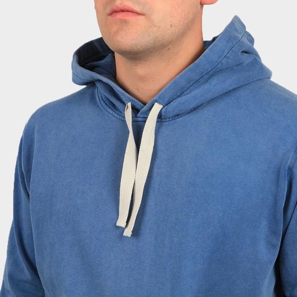 Pretty Green Mens Blue Garment Dyed Overhead Hoody main image