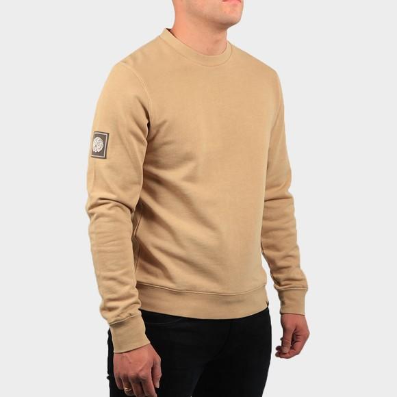 Pretty Green Mens Beige Crew Neck Sweatshirt