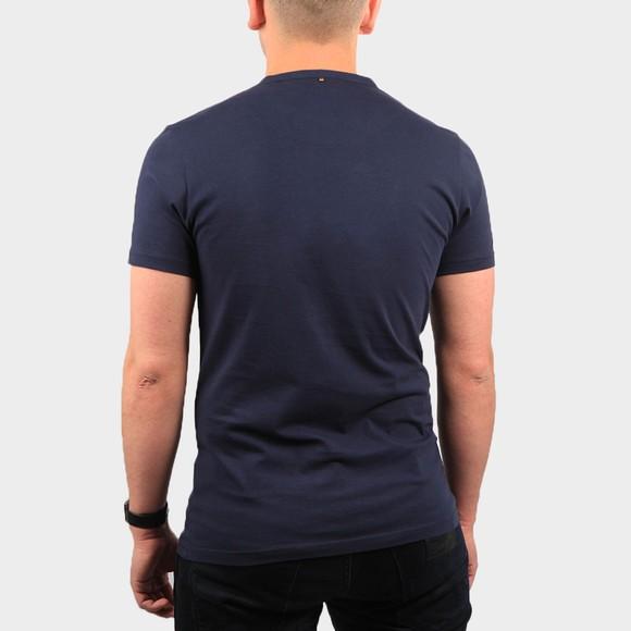 Pretty Green Mens Blue Paisley Print Logo T Shirt main image