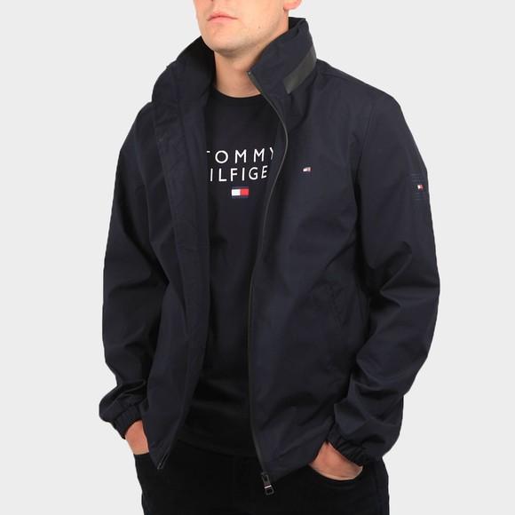 Tommy Hilfiger Mens Blue Stand Collar Jacket
