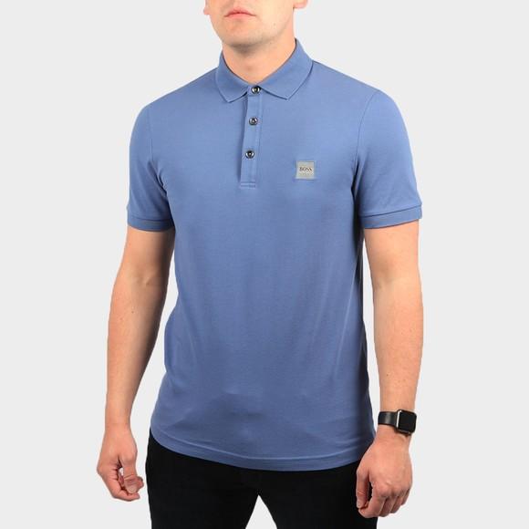 BOSS Mens Blue Casual Passenger Polo Shirt main image