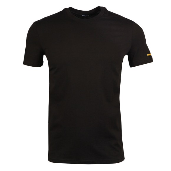 Dsquared2 Mens Black Small Sleeve Logo Stretch T Shirt