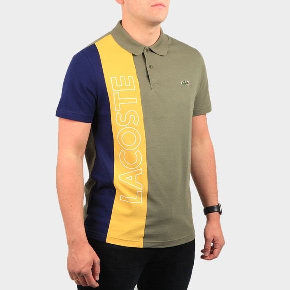 Lacoste Mens Green YH9852 Letter Polo Shirt