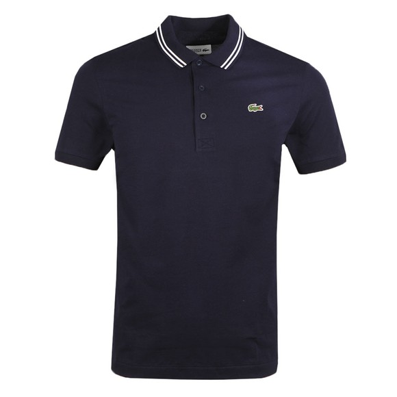 Lacoste Sport Mens Blue YH1482 Tipped Polo Shirt
