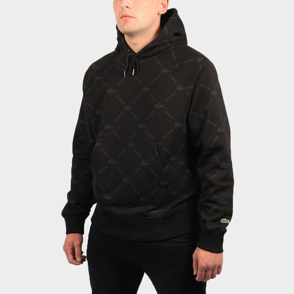 Lacoste Live Mens Black SH9200 Allover Print Hoody