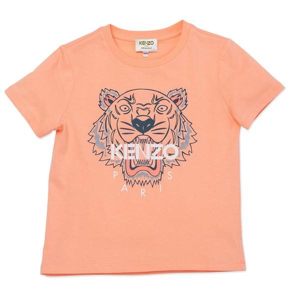 Kenzo Kids Girls Pink Girls Printed Tiger T Shirt