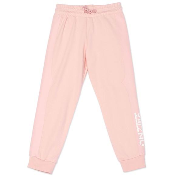 Kenzo Kids Girls Pink Tape Logo Jogger