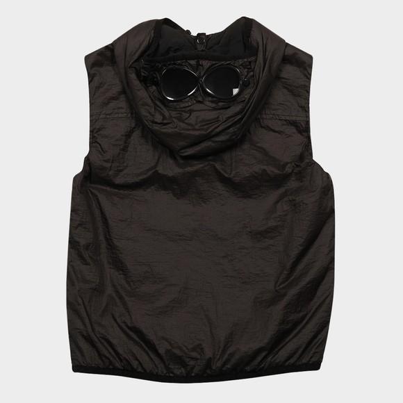 C.P. Company Undersixteen Boys Black Garment Dyed Nylon Goggle Gilet