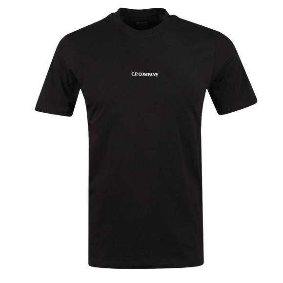C.P. Company Mens Black Centre Logo T Shirt