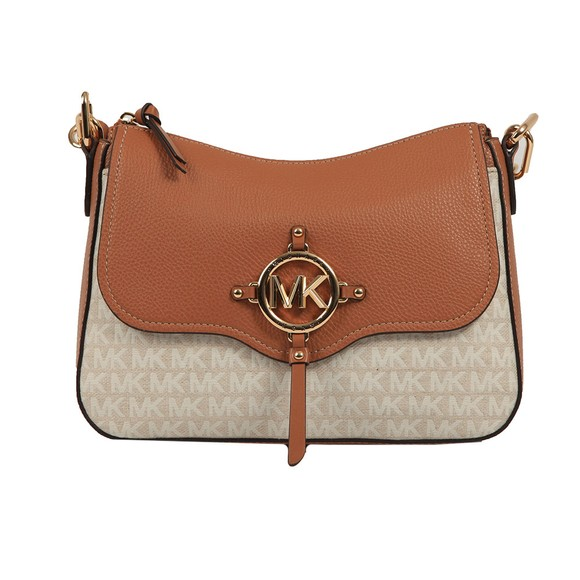 Michael Kors Womens Off-White Amy Large Messenger Bag