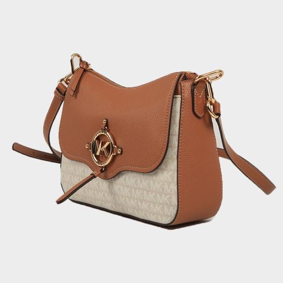 Michael Kors Womens Off-White Amy Large Messenger Bag main image