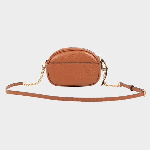 Michael Kors Womens Brown Jet Set Charm Small Oval Camera Cross Body  main image