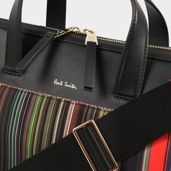 PS Paul Smith Mens Black Mini Stripe Bag