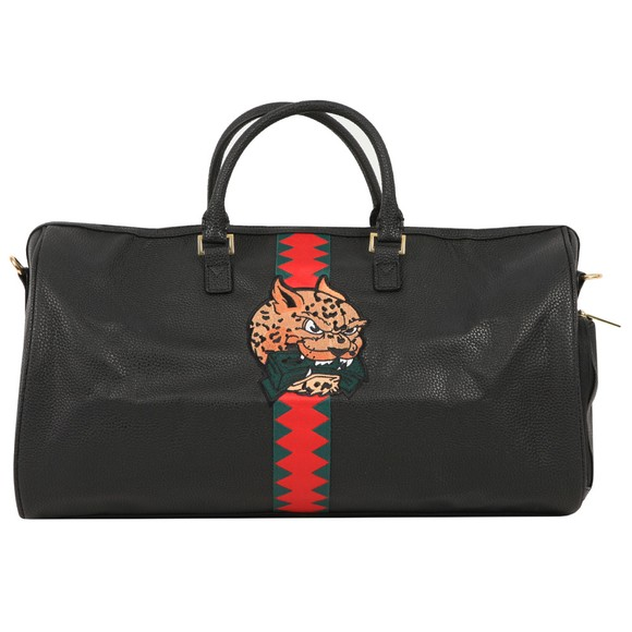 Sprayground Mens Black Spucci Split Duffle Bag