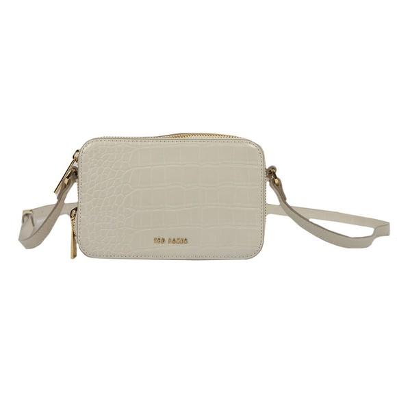 Ted Baker Womens Off-White Stina Double Zip Mini Camera Bag